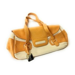 Tignanello Yellow Leather & Canvas Small Bag